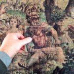 Dispositif ludique pour découvrir les détails d'une tapisserie, musée de la Ville de Bruxelles, mars 2016